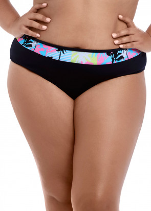 Elomi Swim Malibu Days bikiniunderdel mid rise brief 42-52 mönstrad