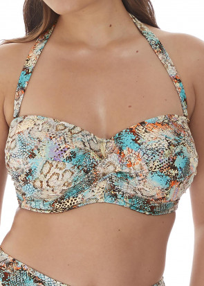 Fantasie Swim Manila bikiniöverdel bandeau D-I-kupa mönstrad