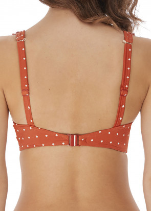 Freya Swim Jewel Cove bikiniöverdel högt apex D-M-kupa orange