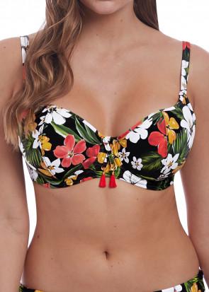 Freya Swim Tiki Bar vadderad bikiniöverdel D-L kupa mönstrad