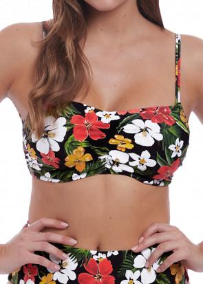Freya Swim Tiki Bar bikiniöverdel bralette D-H kupa mönstrad