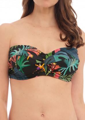 Fantasie Swim Monteverde bikiniöverdel bandeau D-I kupa mönstrad