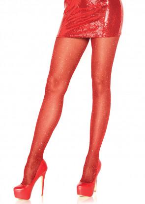 Leg Avenue lurex strumpbyxor One Size röd