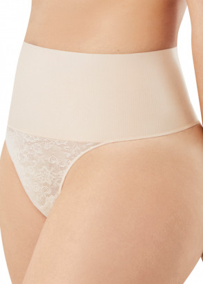 Maidenform Tame Your Tummy Thong shapingtrosa S-2XL beige