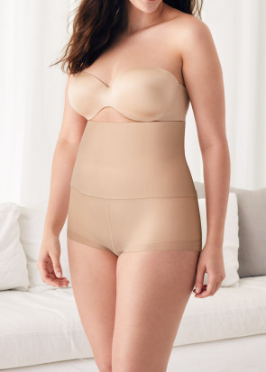 Maidenform Tame Your Tummy Missy shapingtrosa med hög midja S-2XL Beige