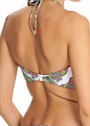 Freya New Wave Multi Bandeau Bikiniöverdel C-I kupa mönstrad