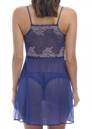Wacoal Lace Perfection chemise S-XL blå