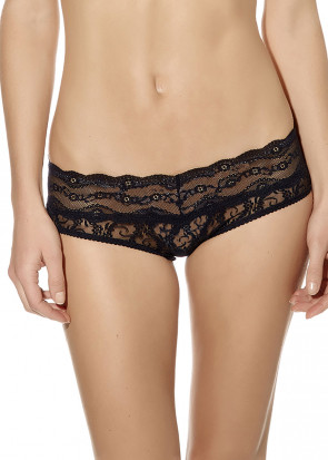 B.Tempt'd Lace Kiss Hipster Brief S-XL svart