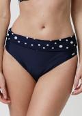 Abecita Pompom bikinitrosa med vikbar kant 36-48 Navy