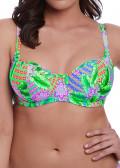 Freya Swim Zamba Sweetheart vadderad bikiniöverdel D-L kupa mönstrad
