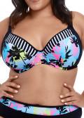 Elomi Swim Malibu Days bikiniöverdel plunge bygel E-L kupa mönstrad