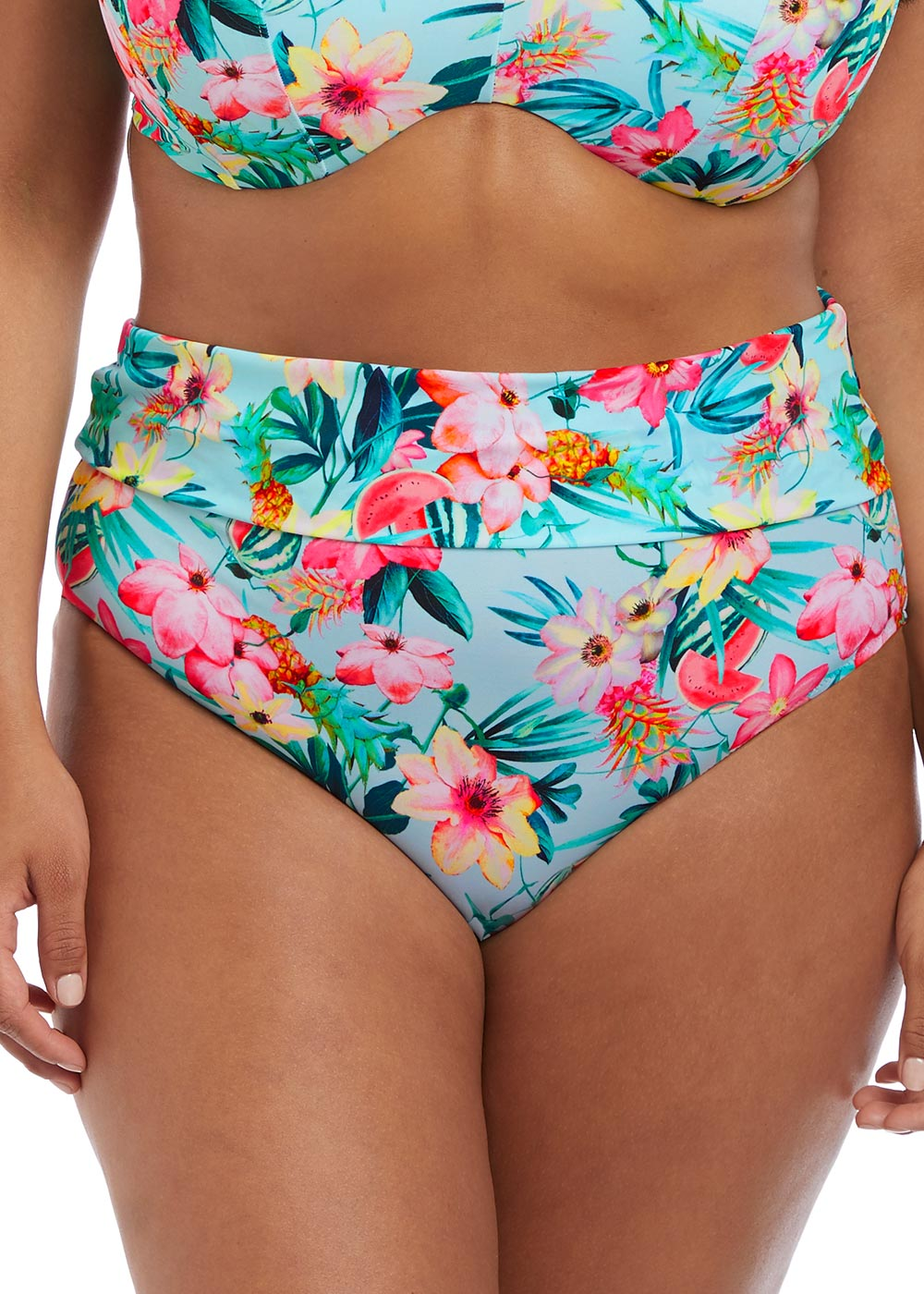 803e6d11 Elomi Swim Aloha bikiniunderdel med vikbar kant 42-52 multi | Feminint.se