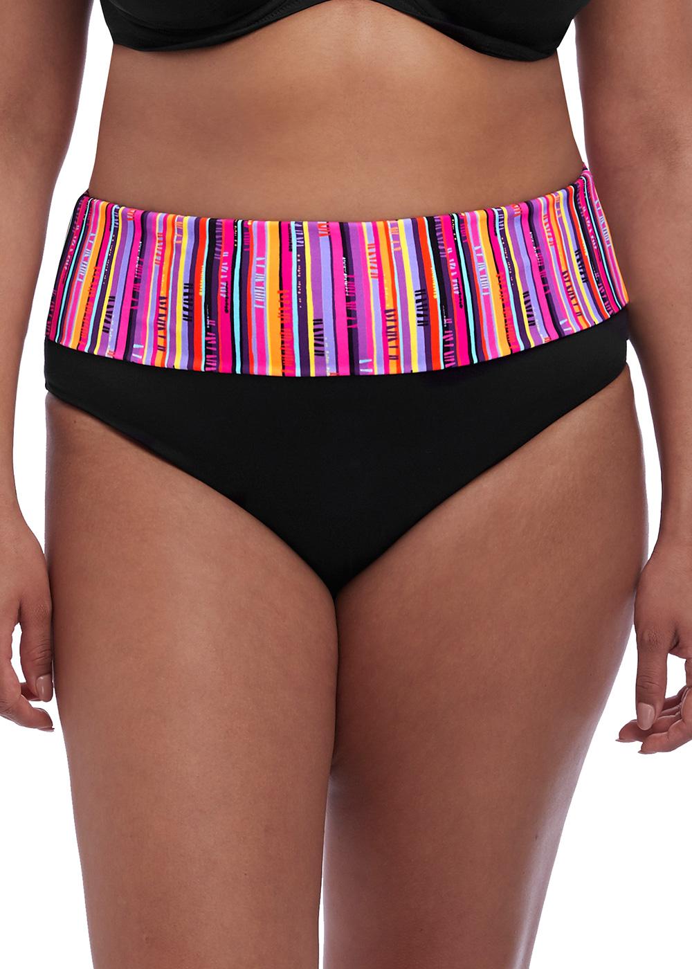 51ad7061 Elomi Swim Nomad bikiniunderdel vikbar brief 42-52 svart | Feminint.se